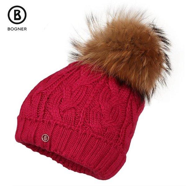 MONI FUR HAT - RED SIZE JUNIOR LARGE