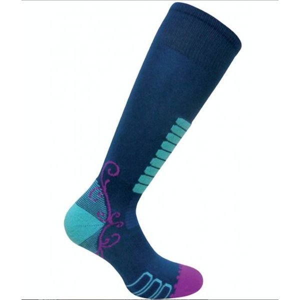 SWEET SILVER SKI SOCK - NAVY