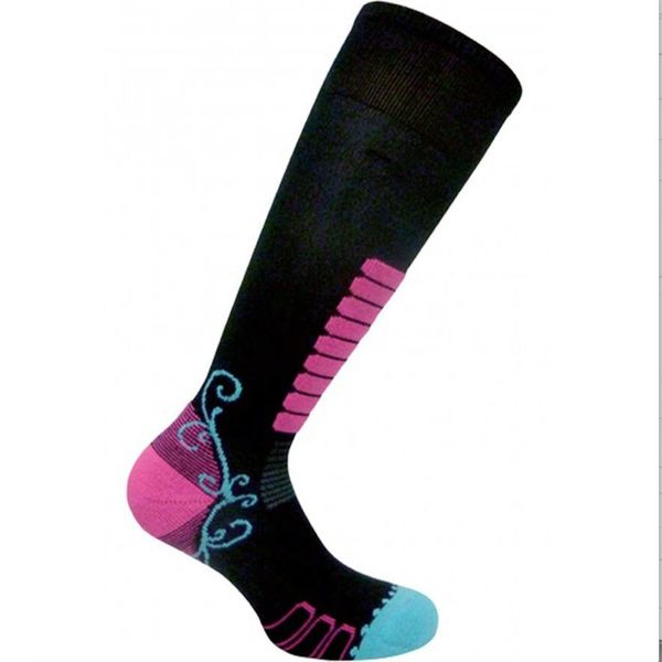 SWEET SILVER SKI SOCK - BLACK