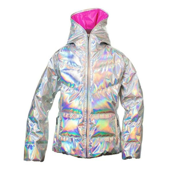JUNIOR JAVA JACKET - HOLOGRAM/HOT PINK SIZE 16