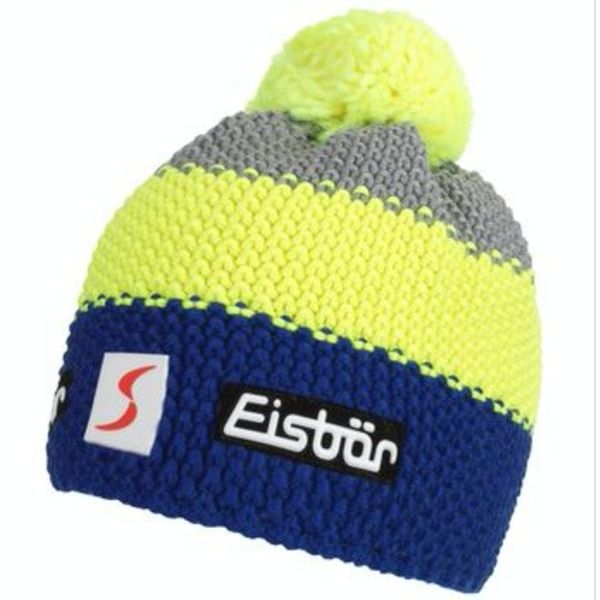 STAR NEON POMPON- GREY/YELLOW/BLUE - ADULT SIZE  8+