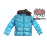 SKEA FASHION SKIWEAR FURRY JUNIOR JAVA JACKET - TEAL FLURRY