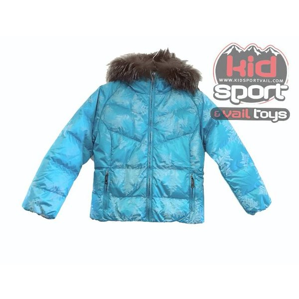 FURRY JUNIOR JAVA JACKET - TEAL FLURRY