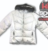 SKEA FASHION SKIWEAR FURRY JUNIOR JAVA JACKET - WHITE FLURRY