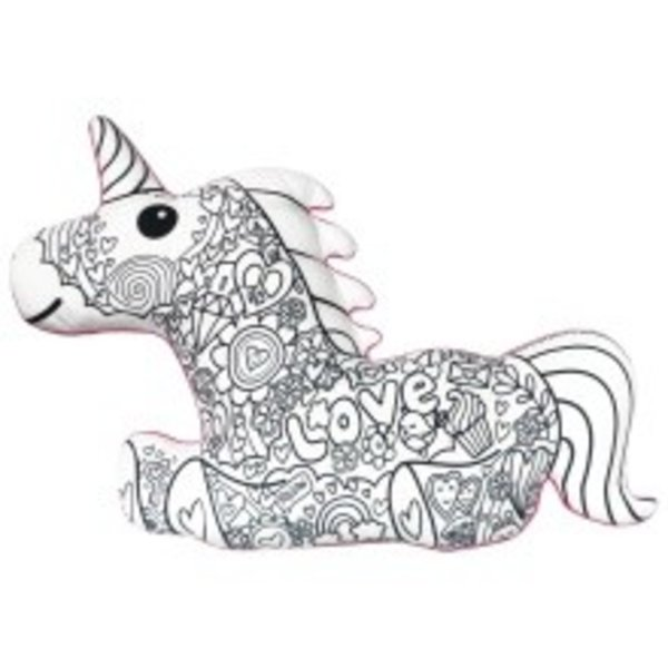 MAGICAL UNICORN COLOR ME PILLOW