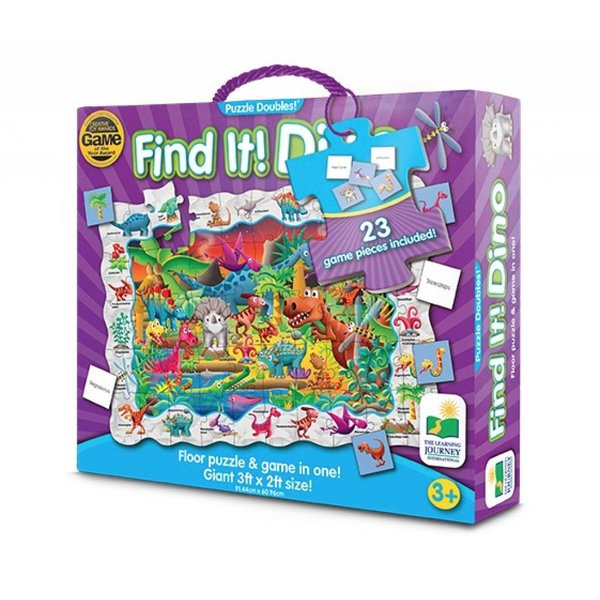 PUZZLE DOUBLES! FIND IT! DINOS