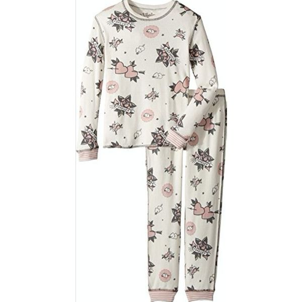 PRESCHOOL GIRL FOREVER NATURAL JAMMIE SET