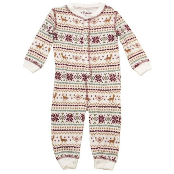 INFANT GIRL FAIR ISLE ROMPER