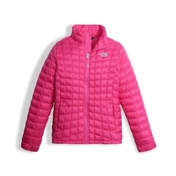 GIRLS THERMOBALL FULL ZIP JACKET - PETTICOAT PINK
