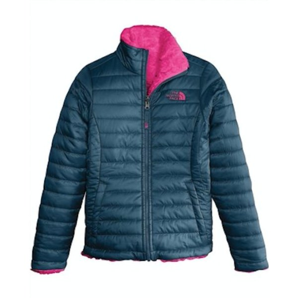 GIRLS REVERSIBLE MOSSBUD SWIRL JACKET - BLUE WING TEAL