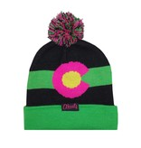 AKSELS COLORADO MOUNTAIN BEANIE - NEON