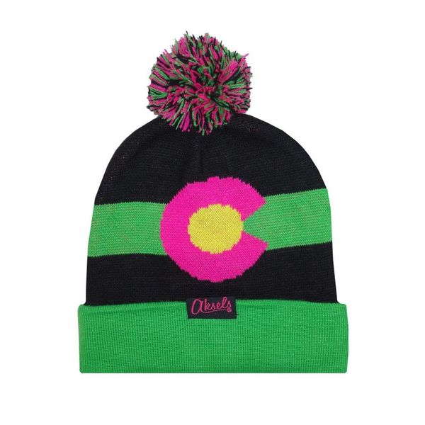 CO MOUNTAIN BEANIE - NEON