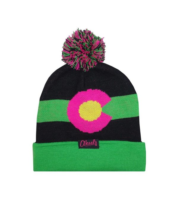 AKSELS CO MOUNTAIN BEANIE - NEON