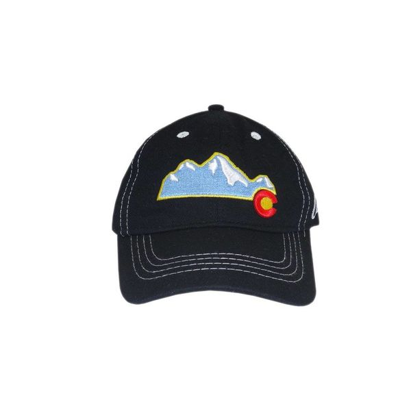 COLORADO MOUNTAIN KIDS HAT - BLACK