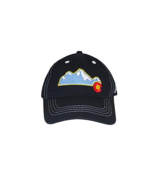 AKSELS CO MOUNTAIN BLACK KIDS HAT