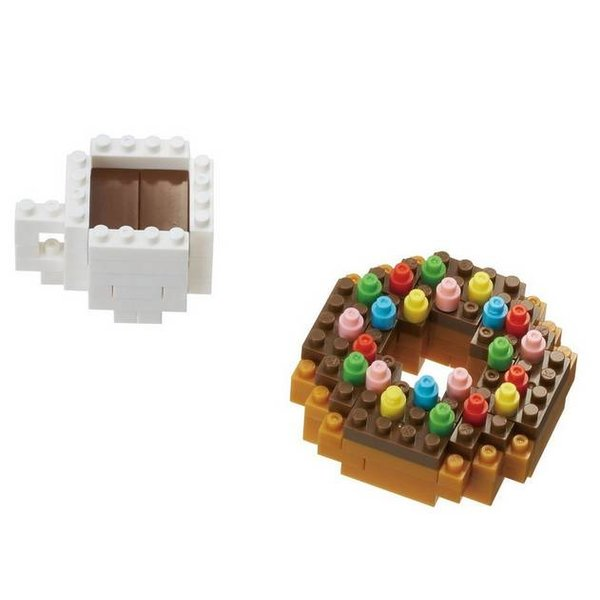 DONUT AND COFFEE NANOBLOCK