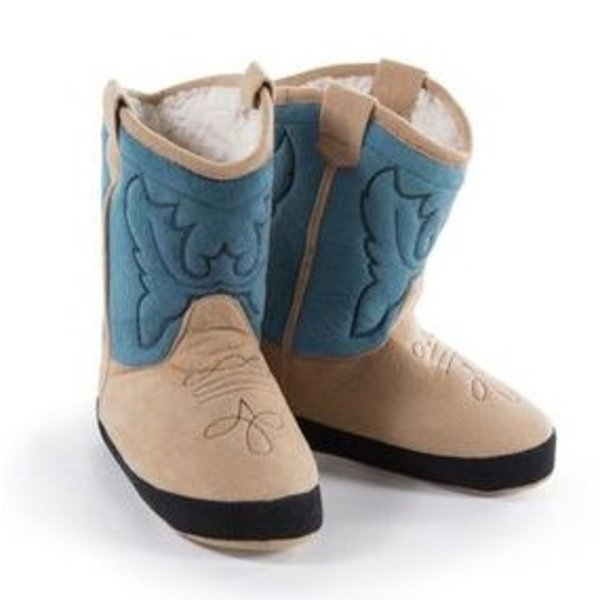 BLUE COWBOY BOOTIE SLIPPERS