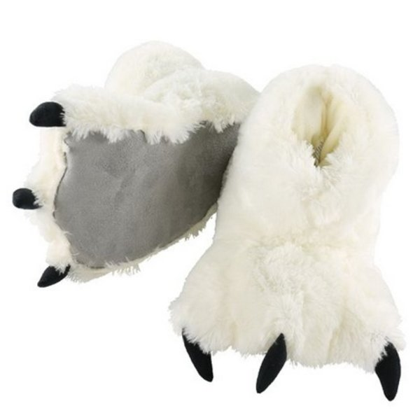WHITE BEAR PAW SLIPPERS