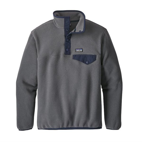 BOYS LIGHTWEIGHT SYNCHILLA SNAP-T PULLOVER - FORGE GREY