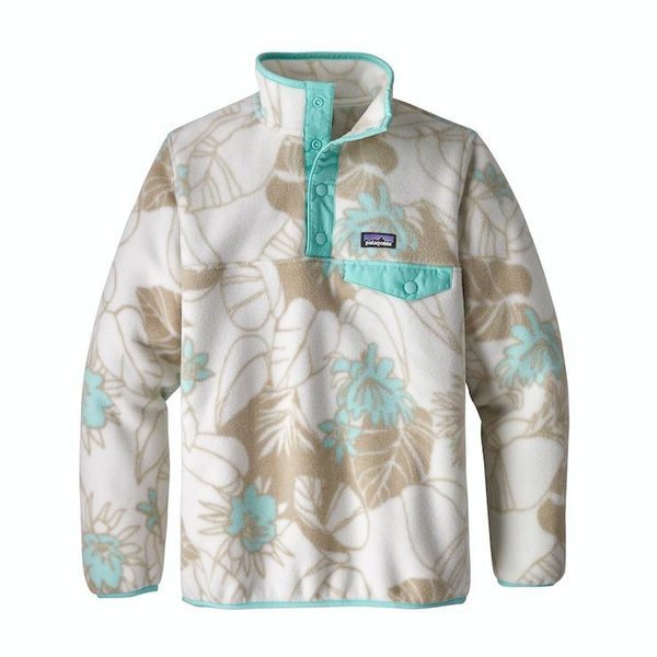 GIRLS LIGHTWEIGHT SYNCHILLA SNAP-T PULLOVER - VALLEY FLORA