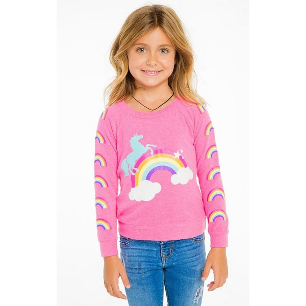 UNICORN RAINBOWS PULLOVER PINK