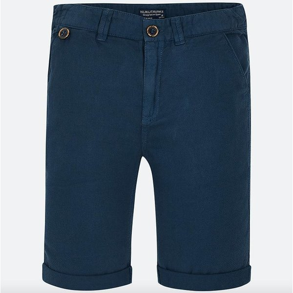 BOYS NAVY STRUCTURED SHORTS