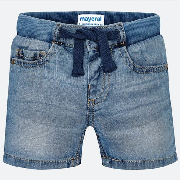 INFANT BOYS BASIC DENIM BERMUDA SHORTS
