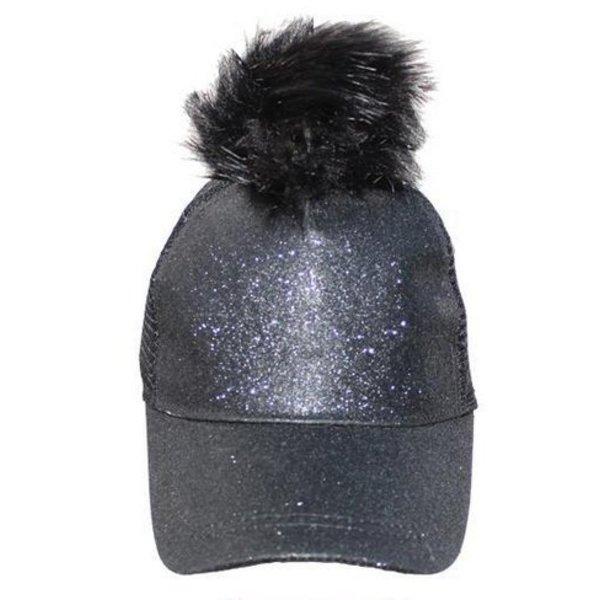 GLITTER CAPS - BLACK