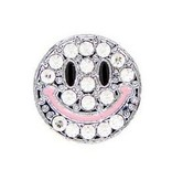 AMERICAN JEWEL HAPPY FACE EMOJI CHARM