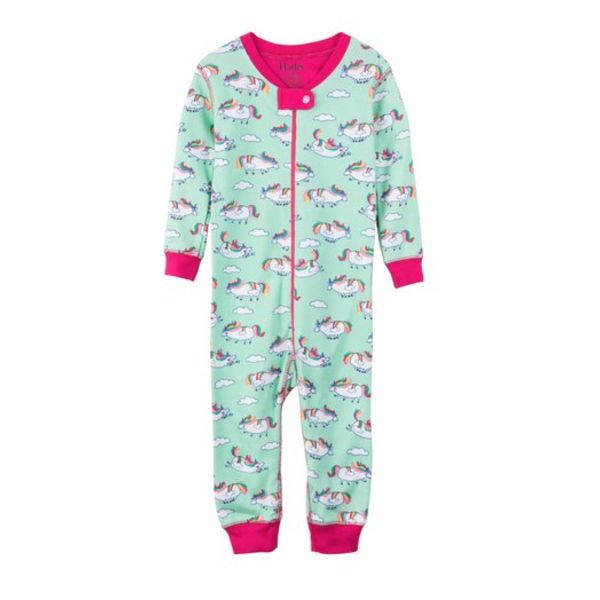 ROLY-POLY UNICORNS COVERALL