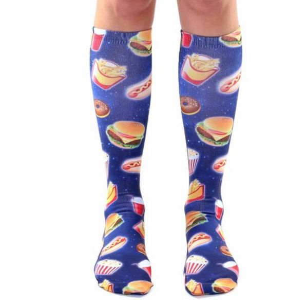 FAST FOOD GALAXY KNEE SOCKS