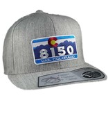 8150 HEATHER GREY VAIL FLAT BRIM HAT