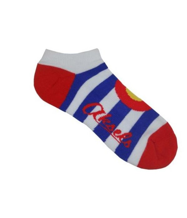 AKSELS COLORADO STRIPE ADULT ANKLE SOCK - S/M