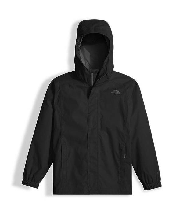THE NORTH FACE BOY'S RESOLVE REFLECTIVE RAIN JACKET - TNF BLACK