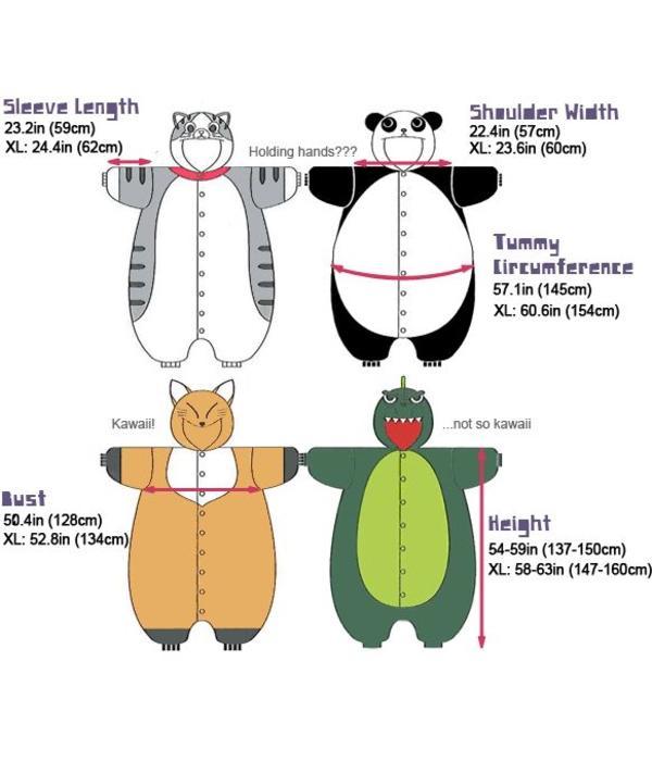 SKUNK ONESIE - ADULT (5FT-6FT)