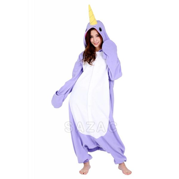 PURPLE NARWHAL ONESIE - ADULT (5FT-6FT)