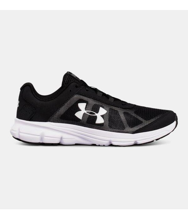 UNDER ARMOUR GRADE SCHOOL RAVE 2 SNEAKER - BLACK