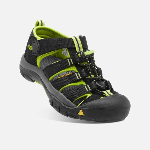 NEWPORT H2 YOUTH - BLACK/LIME -