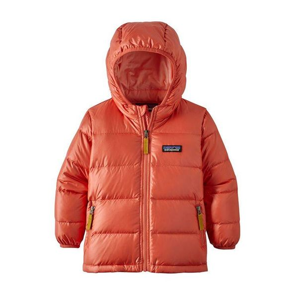 BABY HI-LOFT DOWN HOODY  - SPICED CORAL