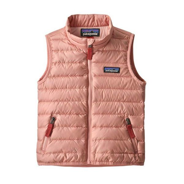 BABY DOWN SWEATER VEST - MINERAL PINK