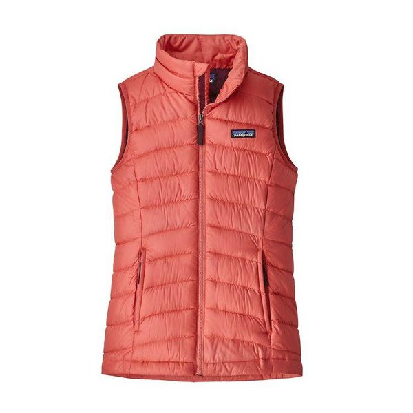 GIRLS DOWN SWEATER VEST - SPICED CORAL