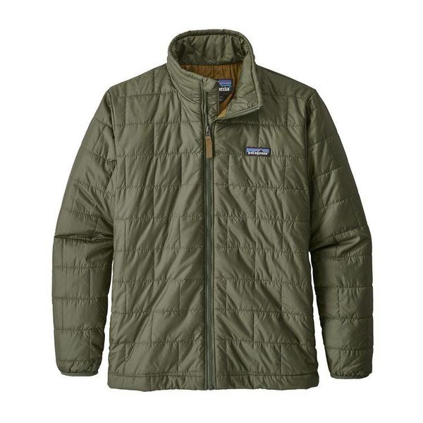 BOYS NANO PUFF JACKET - INDUSTRIAL GREEN
