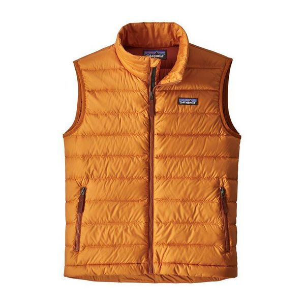 BOYS DOWN SWEATER VEST - MARIGOLD