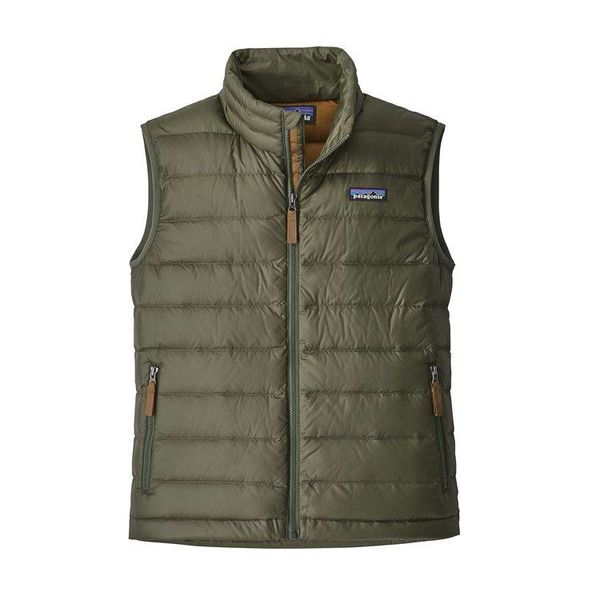 BOYS DOWN SWEATER VEST - INDUSTRIAL GREEN