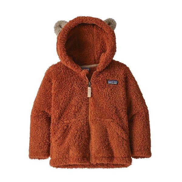 BABY FURRY FRIENDS HOODY - COPPER ORE