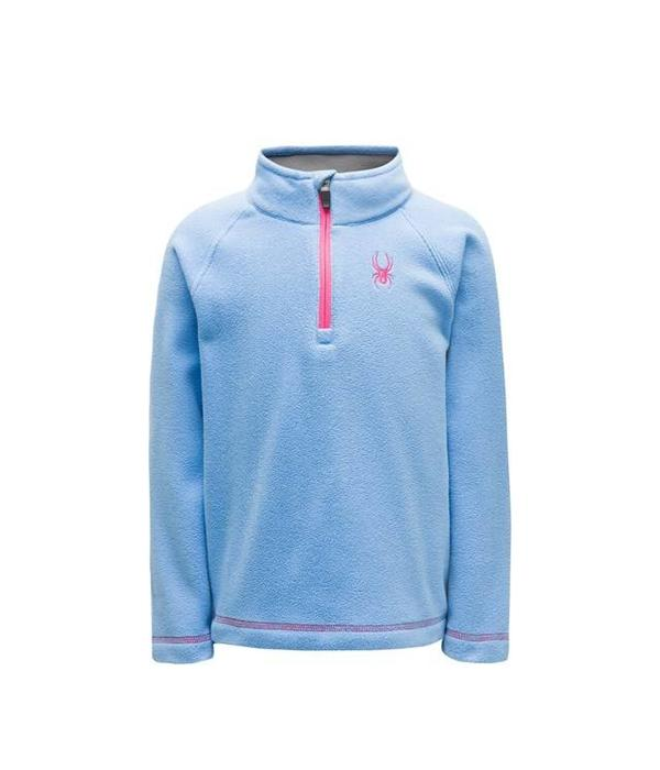 SPYDER BITSY SPEED FLEECE TOP - BLUE ICE