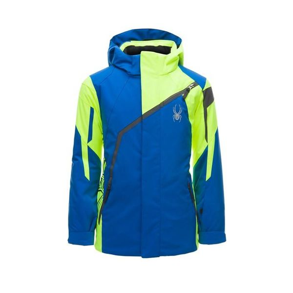 BOY'S CHALLENGER JACKET - TURKISH SEA/BRYTE YELLOW/POLAR