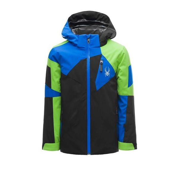 BOY'S LEADER JACKET - BLACK/FRESH/TURKISH SEA