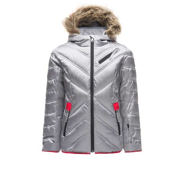 GIRL'S ATLAS JACKET - SILVER/HIBISCUS