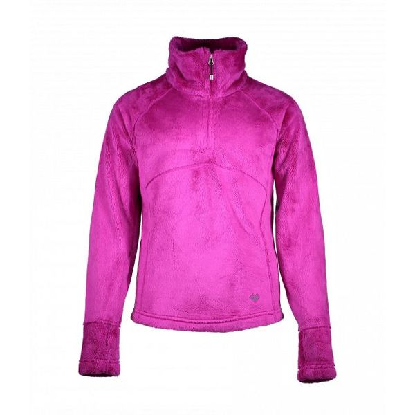 JUNIOR GIRLS FURRY FLEECE TOP - VIOLET VIBE
